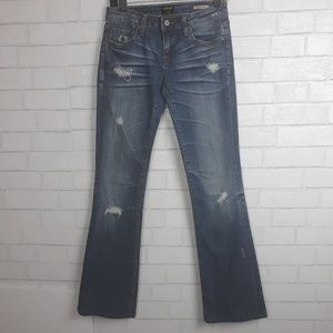 Anoname Joelle Boot Cut Distressed Jeans D75